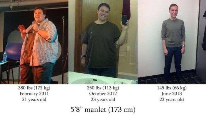 Люди діляться своїми успіхами в боротьбі із зайвою вагою (16 фото)