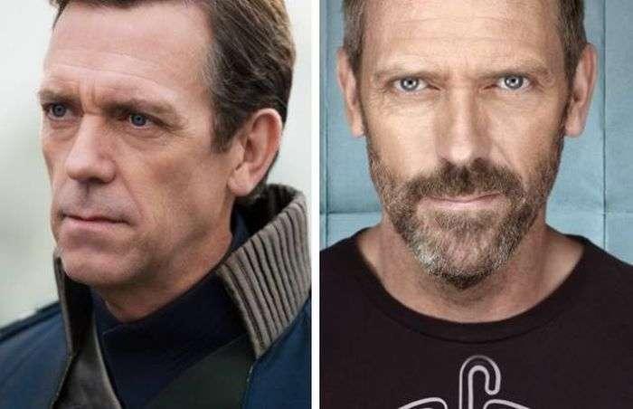 Відомі актори з бородою і без (16 фото)