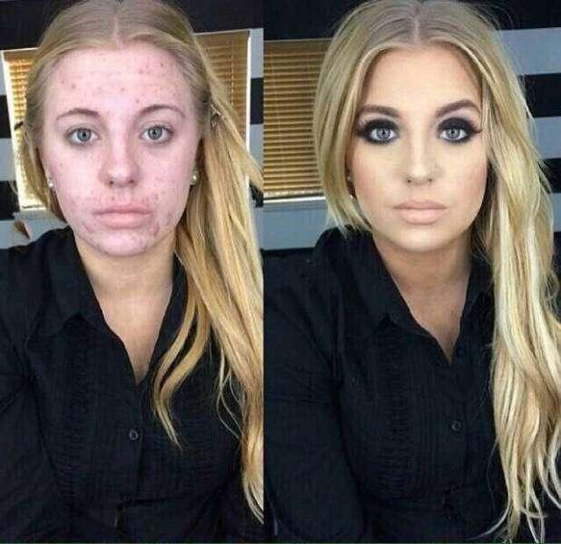 До і після макіяжу (10 фото)