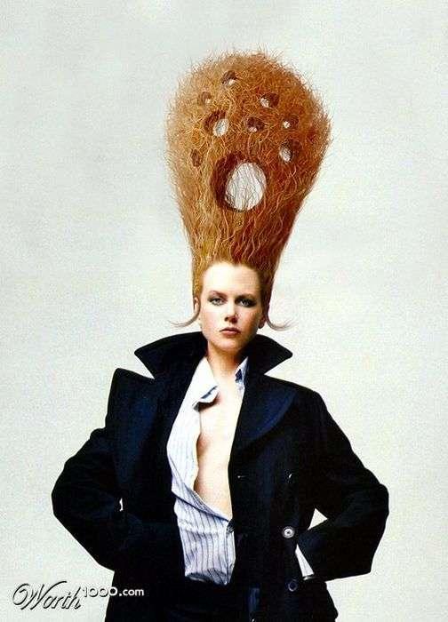 Фотожаби на тему модних зачісок зірок (50 фото)