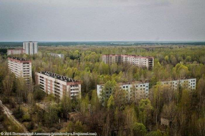 Вид на Припять, що відкривається з 16-поверхівок міста (25 фото)