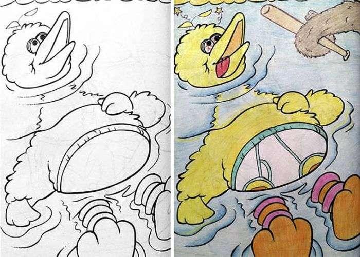 Дорослий погляд на дитячі розмальовки (27 фото)