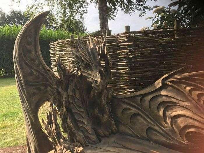Лавка у формі дракона (6 фото)