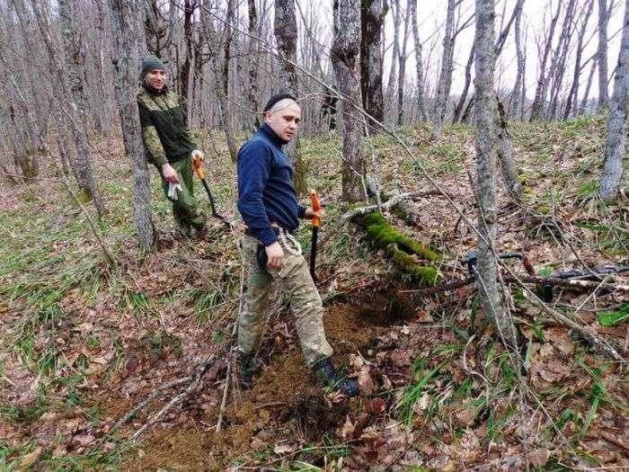 Пошуки полеглих солдатів Червоної Армії в районі Сарай-гори (25 фото)