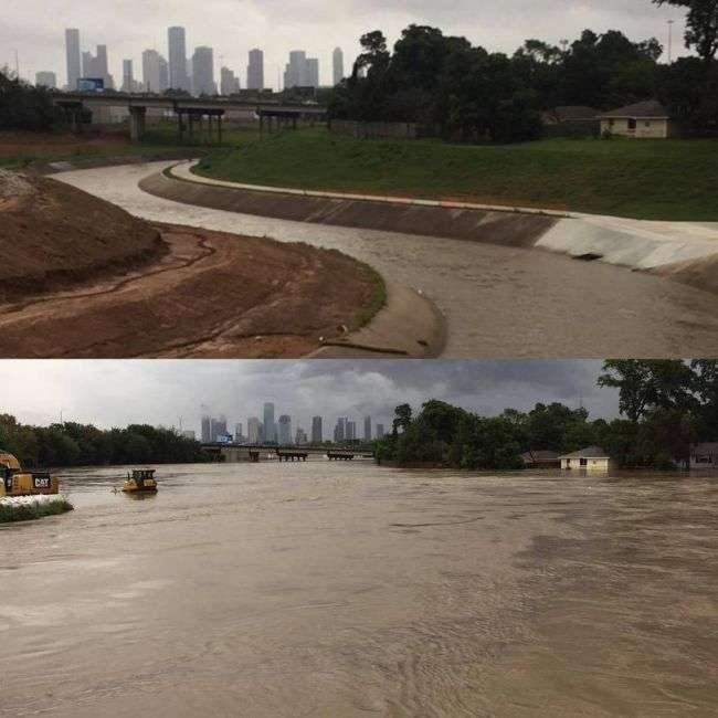Хюстон до і після повені в стилі було - стало (6 фото)