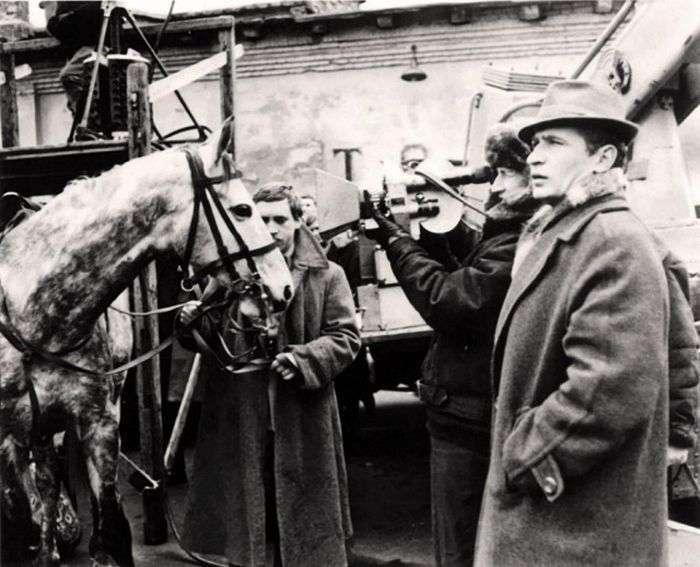 Рідкісні кадри зі знімальних майданчиків радянських кінострічок (16 фото)