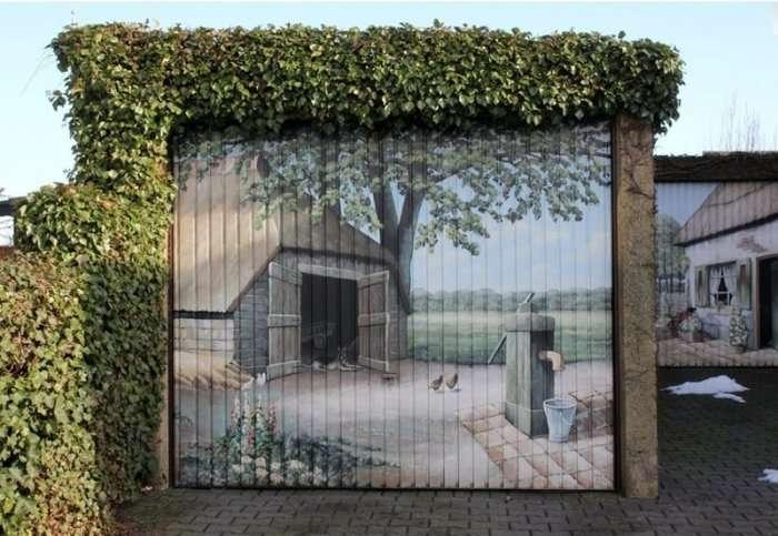 Незвичайні ворота для гаража (30 фото)