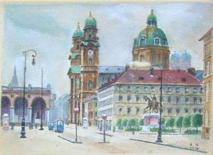 Картини Адольфа Гітлера (26 фото)