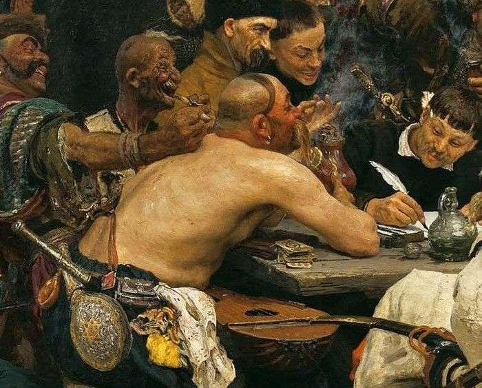 Невідома деталь відомої картини Іллі Рєпіна «Запорожці» (4 фото)