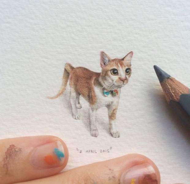 Чудові мініатюри від Лоррейн Лутс (33 рисунка)