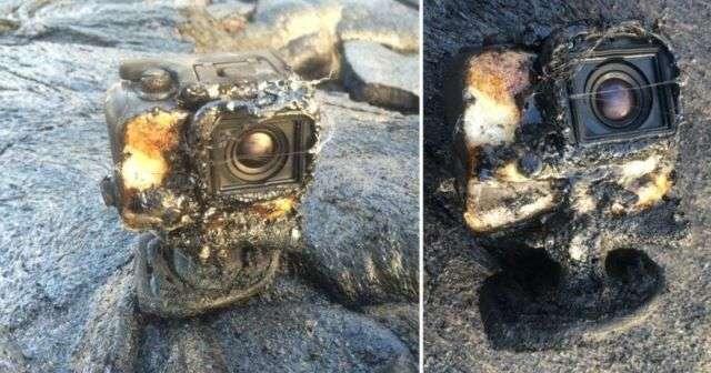 Екшн-камера потонула в лаві, але продовжила працювати (фото + відео)