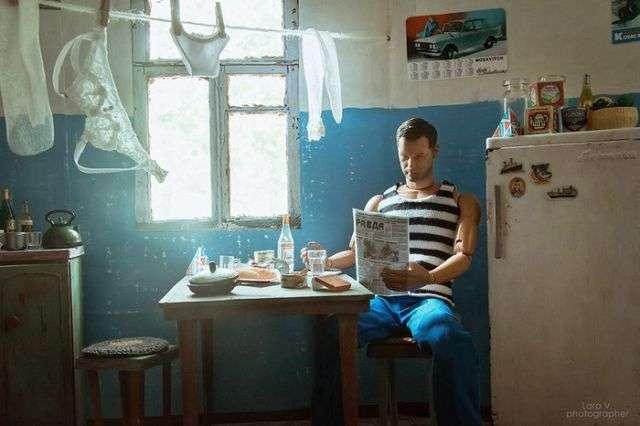 Якою була б життя Барбі і Кена в СРСР (8 фото)
