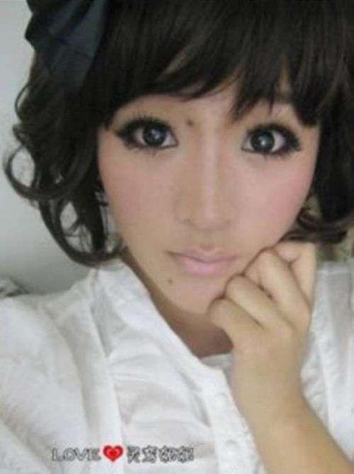 Неймовірне перетворення азіатки за допомогою макіяжу (4 фото)