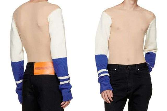 Прозорий светр з рукавами оцінили в 1800 євро (3 фото)