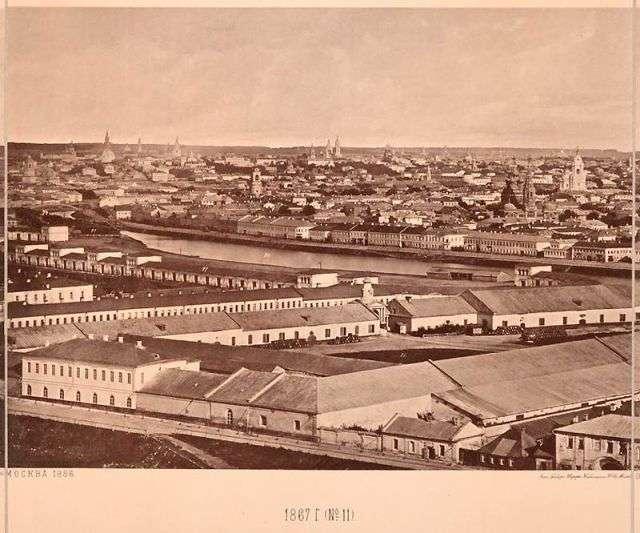 Вид на Москву 1867 року з храму Христа Спасителя (15 фото)