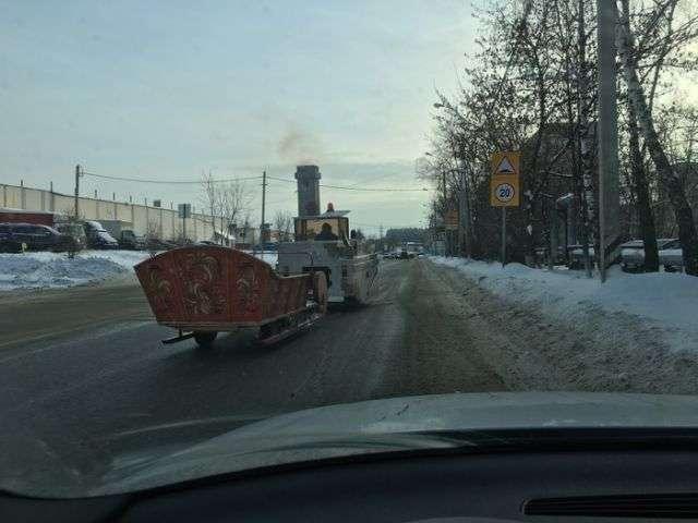 Незвичайний транспорт на нашій дорозі (3 фото)