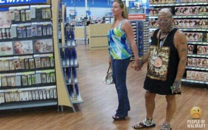 Дивні відвідувачі американських супермаркетів (41 фото)