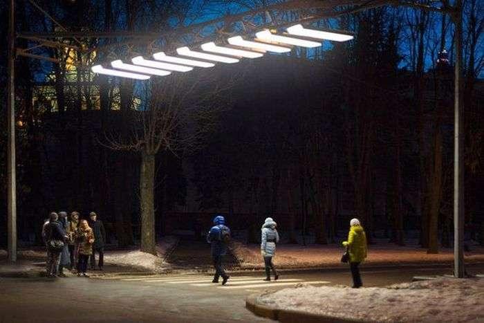 У Москві встановили першу «повітряну зебру» (2 фото)