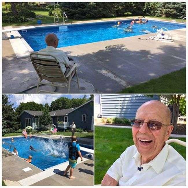 Літній чоловік побудував басейн для сусідських дітей (4 фото)