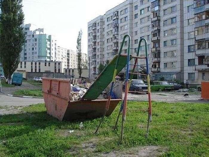 Суворі дитячі майданчики в Росії (14 фото)