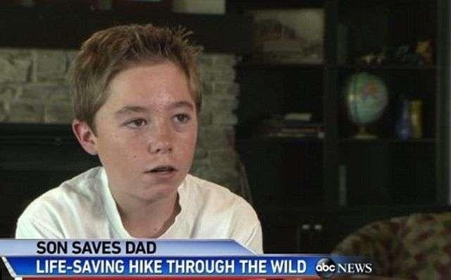 13-річний хлопчик врятував батька (4 фото)