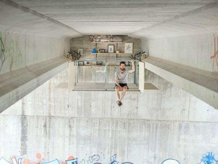 Дизайнер створив студію під автомобільним мостом (7 фото + відео)