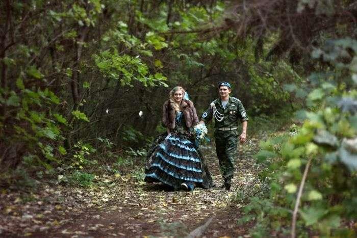Армійська весілля в стилі ВДВ (14 фото)
