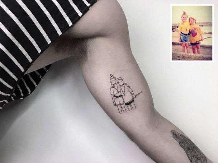 Турецький тату-майстер перетворює памятні фотографії татуювання (21 фото)