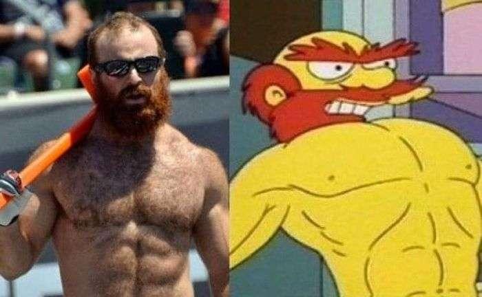 Двійники героїв серіалу «Сімпсони» з реального життя (15 фото)