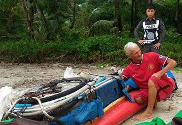Російський турист провів у надувному човні 4 дні біля берегів Таїланду (4 фото)