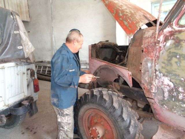 Пожежні села Яльчики відновили автомобіль АЦУ-20 (10 фото)