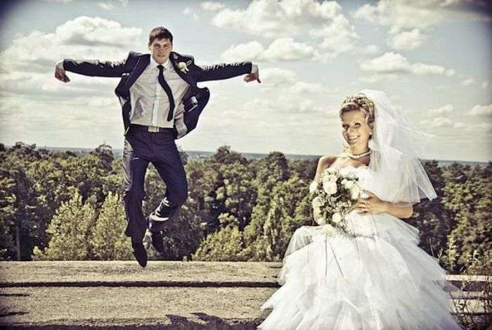 Забавні весільні фотографії (38 фото)