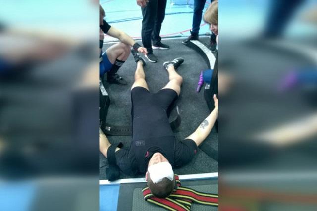На чемпионате Евразии по пауэрлифтингу спортсмен Ярослав Радашкевич получил жуткую травму Всячина