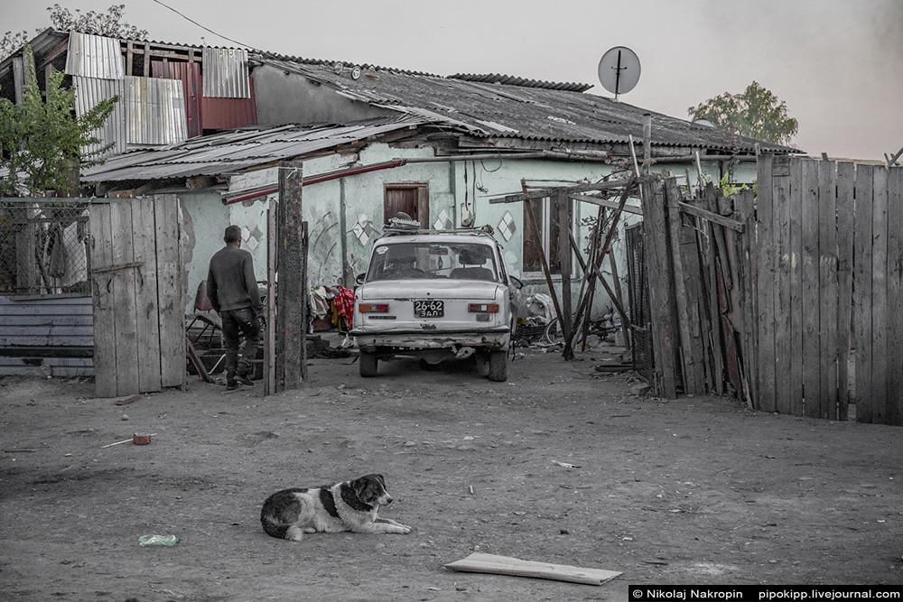 Ужгородский цыган Стёпа на закате дня