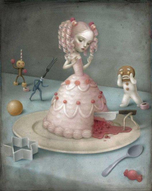 Недетские сказки Николетты Чекколи — мастера тревожных иллюстраций Искусство