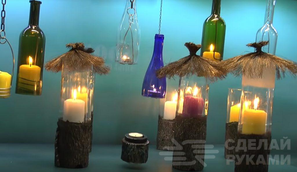Светильники-избушки из бутылок своими руками Самоделки