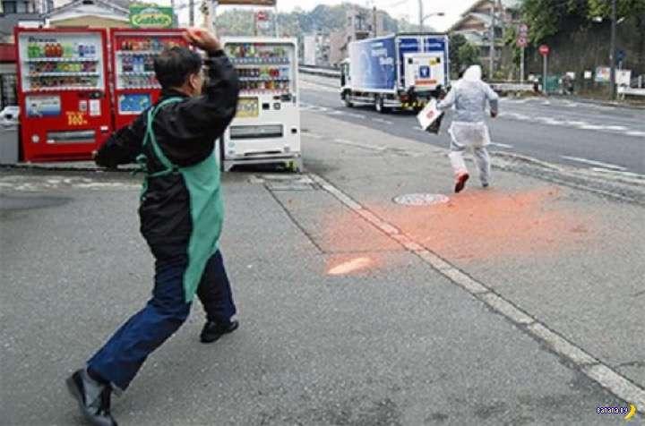 Краска на службе у японской полиции Интересное