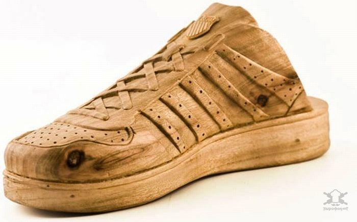 Ботинки из дерева Интересное