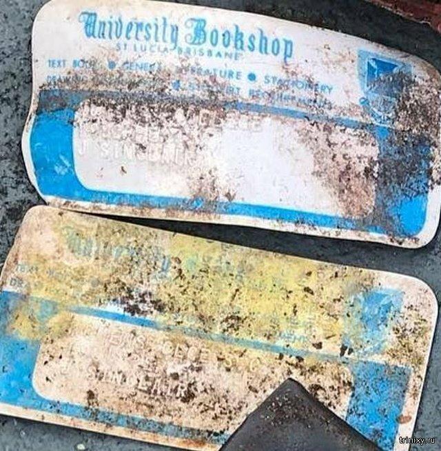 Австралийка нашла в парке кошелек, который был потерян 40 лет назад Интересное