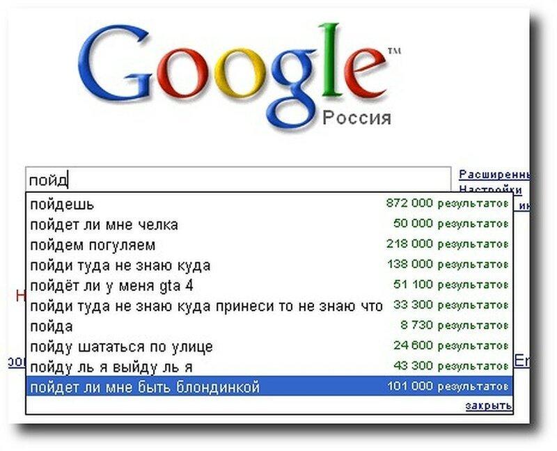 «Гугл знает все!»: 20 смешных и нелепых запросов в поисковиках Интересное