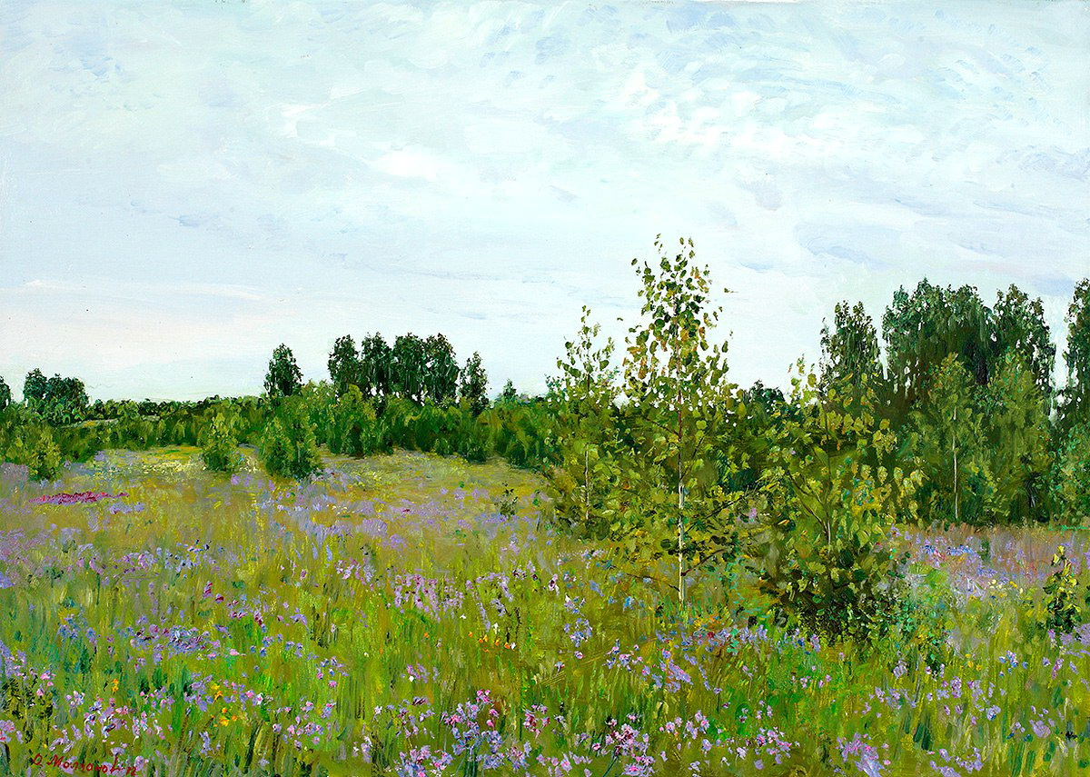 Русский художник Олег Молчанов живопись,природа