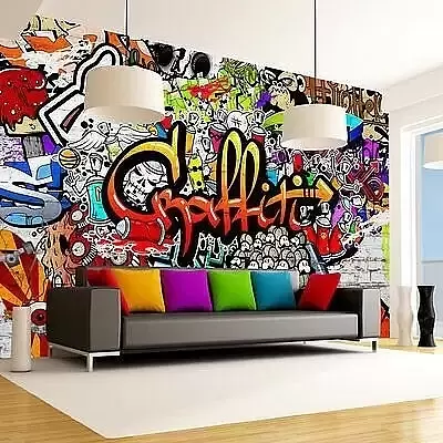 Граффити в квартире: как их использовать и нарисовать самостоятельно граффити,идеи для дома,интерьер и дизайн