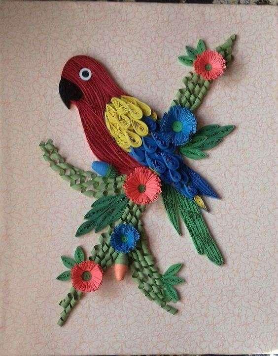 Птицы в технике квиллинг. Как красиво и как трудоемко! handmake,папье-маше,поделки своими руками