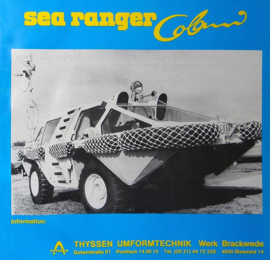 Самая необычная амфибия в мире — Colani Sea Ranger марки и модели,ретро