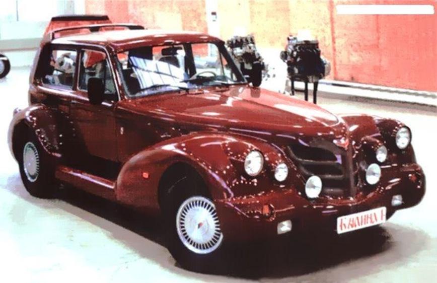 Уникальный внедорожник «Былина» из «Нивы» в стиле автомобиля 30-х годов