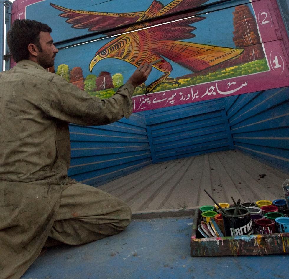 Пакистанские грузовики: шедевры на колесах Тюнинг